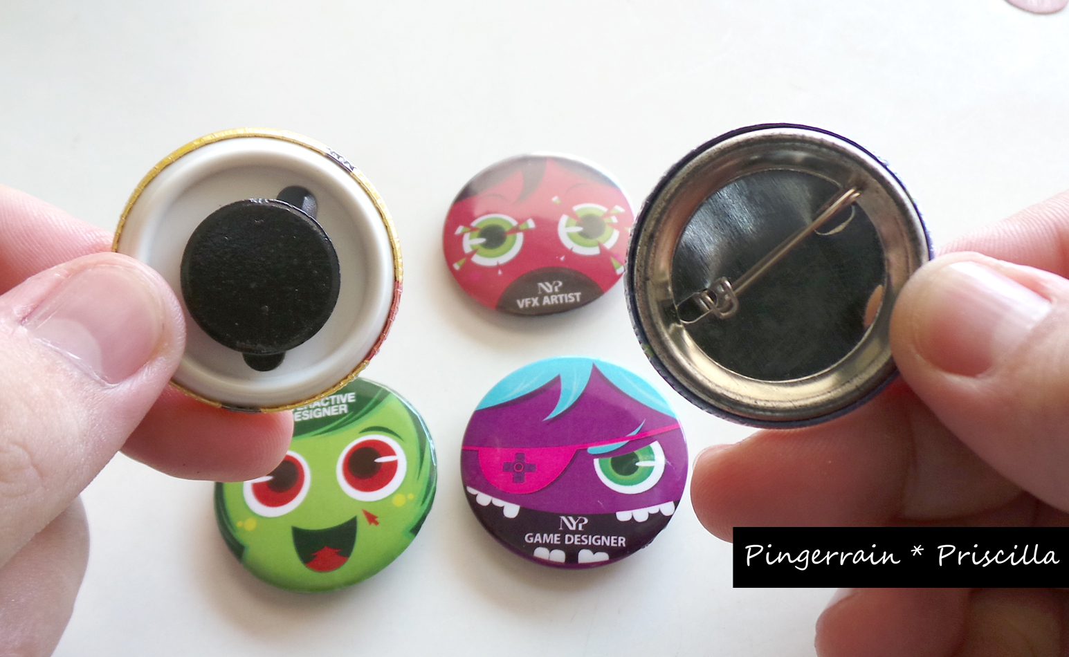 Transform unwanted pin badges into Magnets in 6 steps!