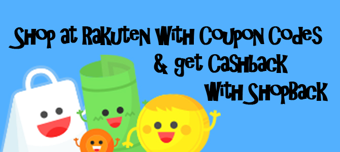 Shop at Rakuten with Coupon Codes & get Cashback with ShopBack