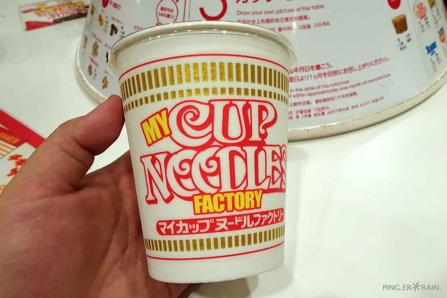 DIY your own cup noodles at Nissin Cup Noodle Museum