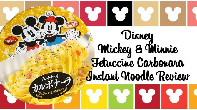 Tokyo Disneyland Mickey Mouse Fettucine Carbonara Instant Noodles review